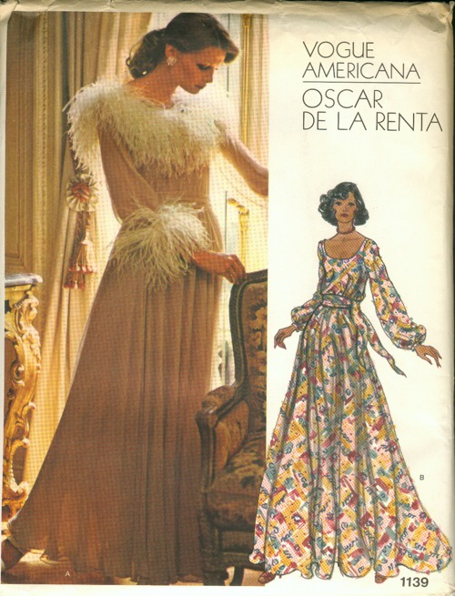 Oscar De La Renta early seventies print dress