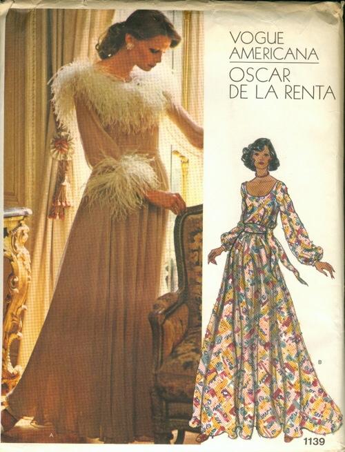 Oscar De La Renta early seventies print dress