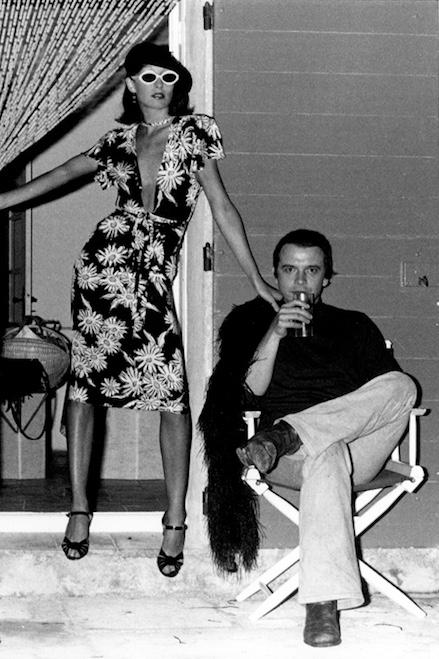 Anjelica Huston with David Bailey in Corsica, 1973
