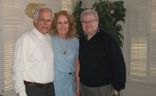 John & Cordelia Owings with Emanuel Ax at a luncheon in their home for TCU faculty and students. March, 2007.