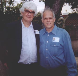 John Owings with composer Marlos Nobre at the reception following the performance of his Piano Trio.