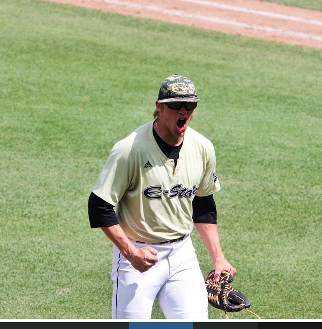 Jarrod Miller is currently a senior at Emporia State University.In 2014, he earned third-team all-conference and MIAA conference champion with 7 wins, 3.6 ERA and 77 strikeouts. Going into the 2015 season the ESU Hornets are ranked #6 nationally. He worksas a personal trainer and occasionally lifts. Best lifts include a 405 lb. x2 back squat and 550 lb. deadlift. Impressive numbers for a sub 200 lb. lanky pitcher. When he's not pitching he'll be found hunting, playing games on an Apple device or watching corny TV shows.