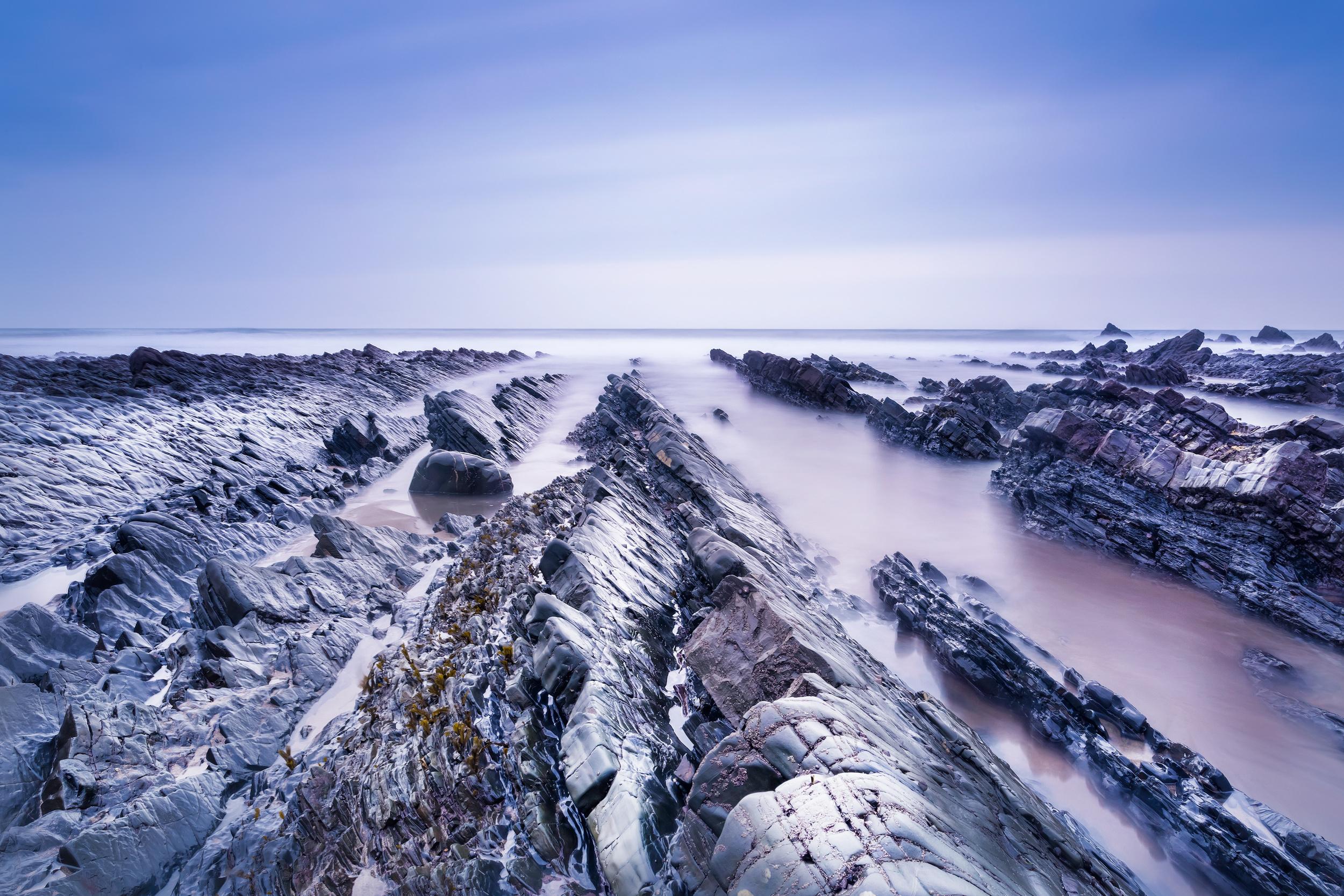 Rocky sunset in North Devon