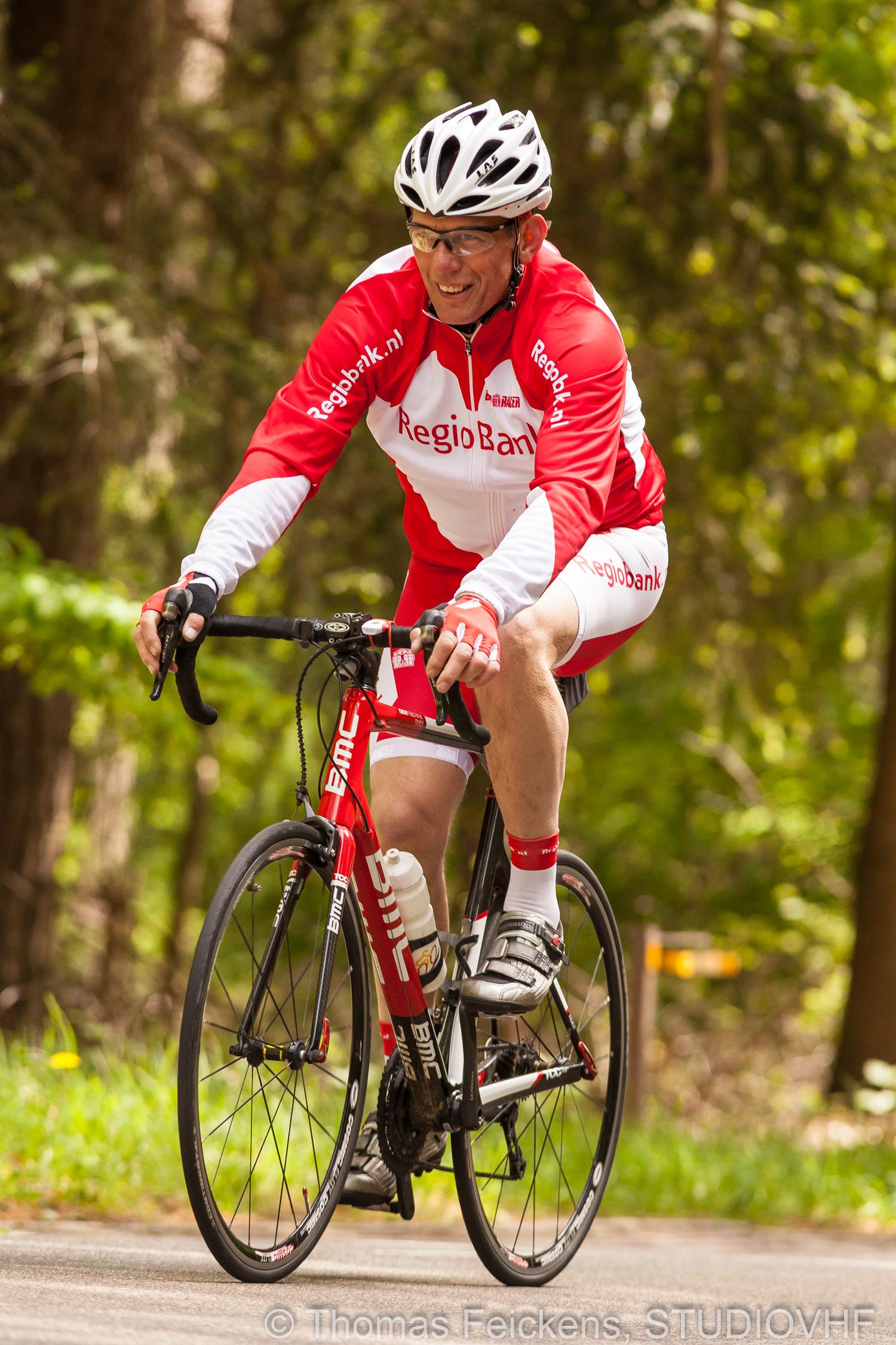 Dan kun je wel in de organisatie zitten, maar dat is nog geen reden om niet zelf te fietsen!