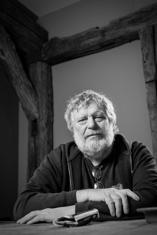 Portret van Max Middelbosch voor de cover van de eerste Roalter Wind, december 2010.