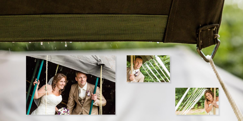 Bruidsfotografie in de regen