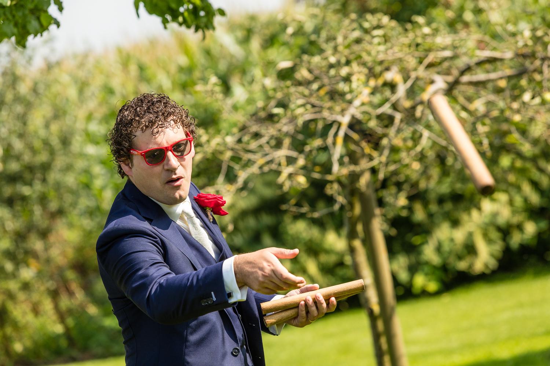 Bruidegom in actie!