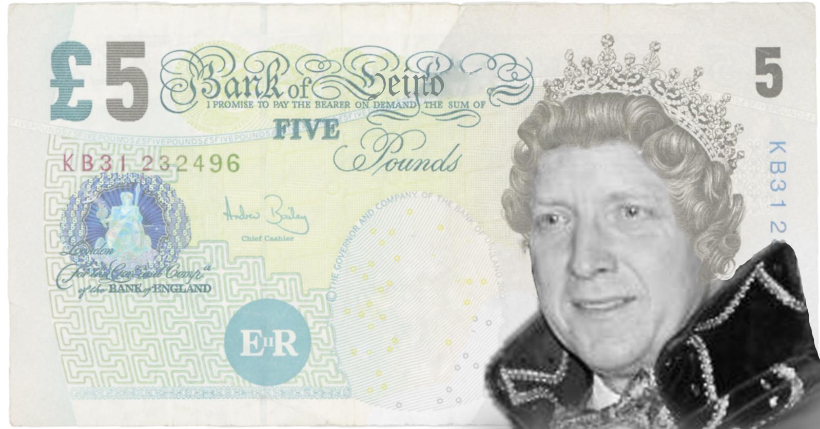 5 Heinose ponden uitgegeven ter gelegenheid van Prins WimI, het enige wapenfeit van de HIP. (Grafische vormgeving: Maarten Metz)