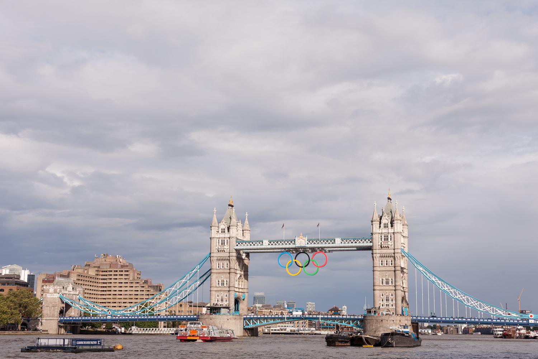 De Tower Bridge tijden de Olympische spelen in London