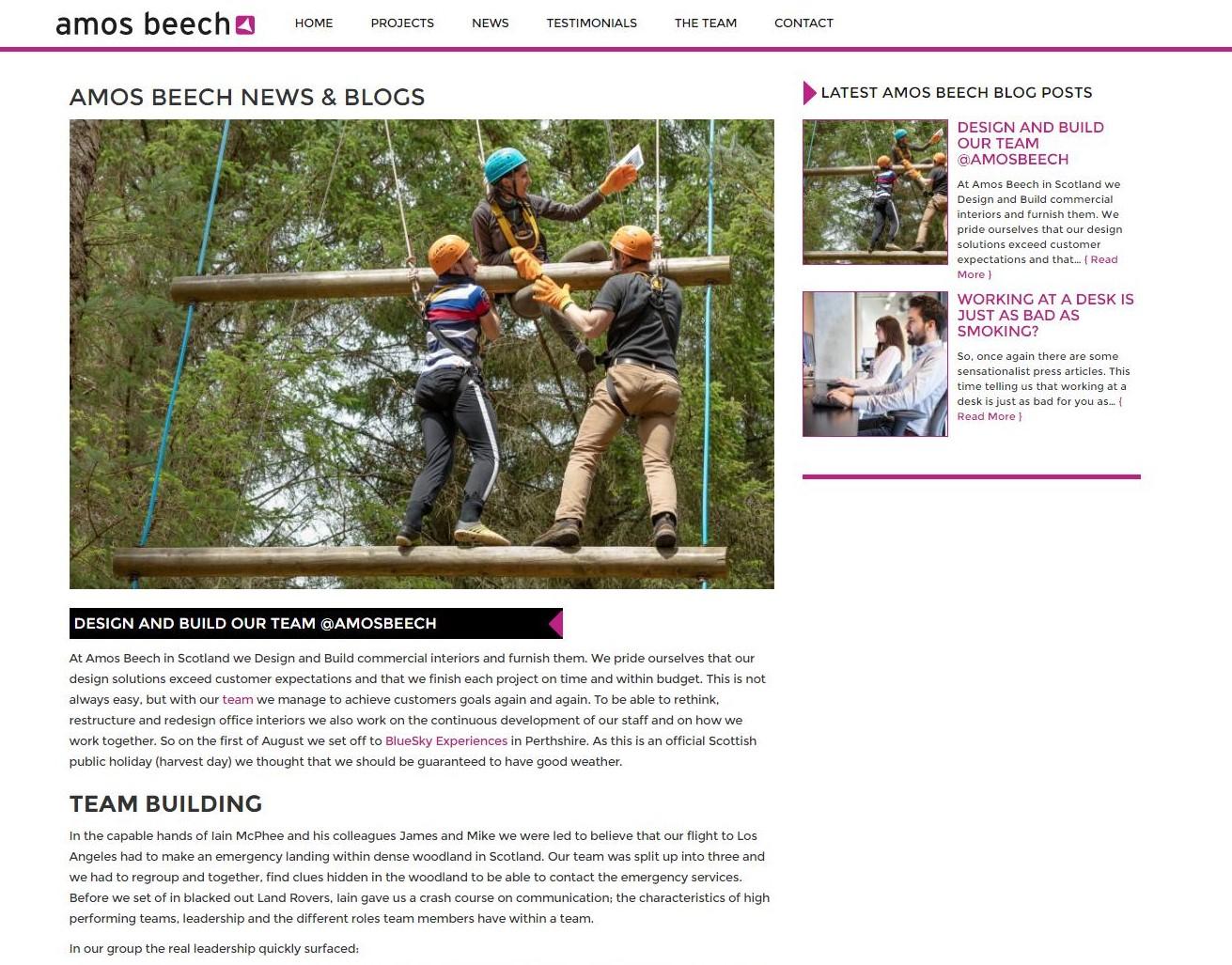 Als je op bovenstaand screenshot klikt kom je op een blogje over onze teambuilding day in rural Perthire