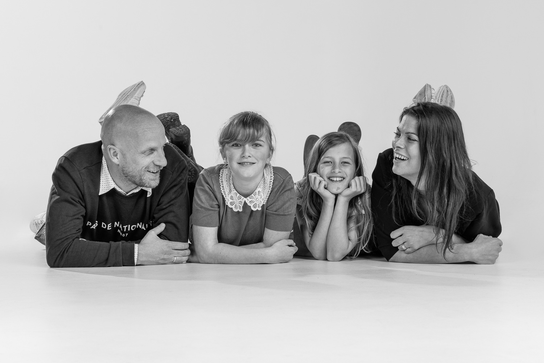 vlnr: Wim, Luuke, Lena en Lies