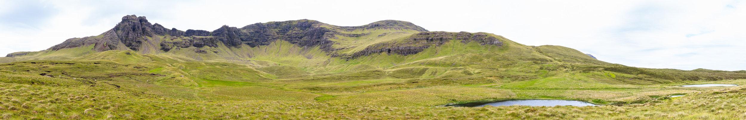 Trotternish Ridge from Loch Cuithir in the Lealt Valley , Isle of Skye