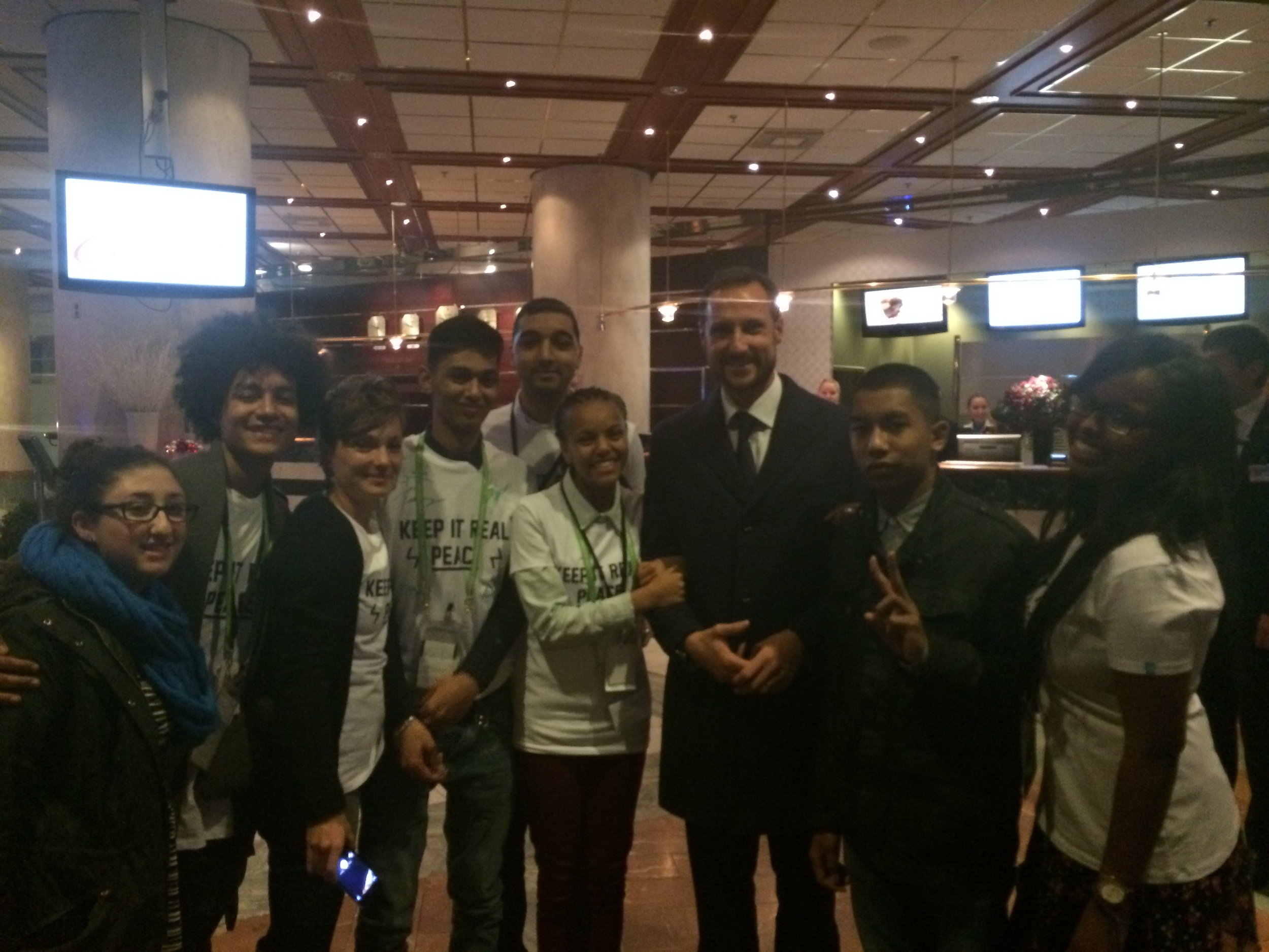 HRH Crown Prince Haakon of Norway kindly receives Keep it Real Young Leaders group after Nobel Peace Prize concert in Oslo