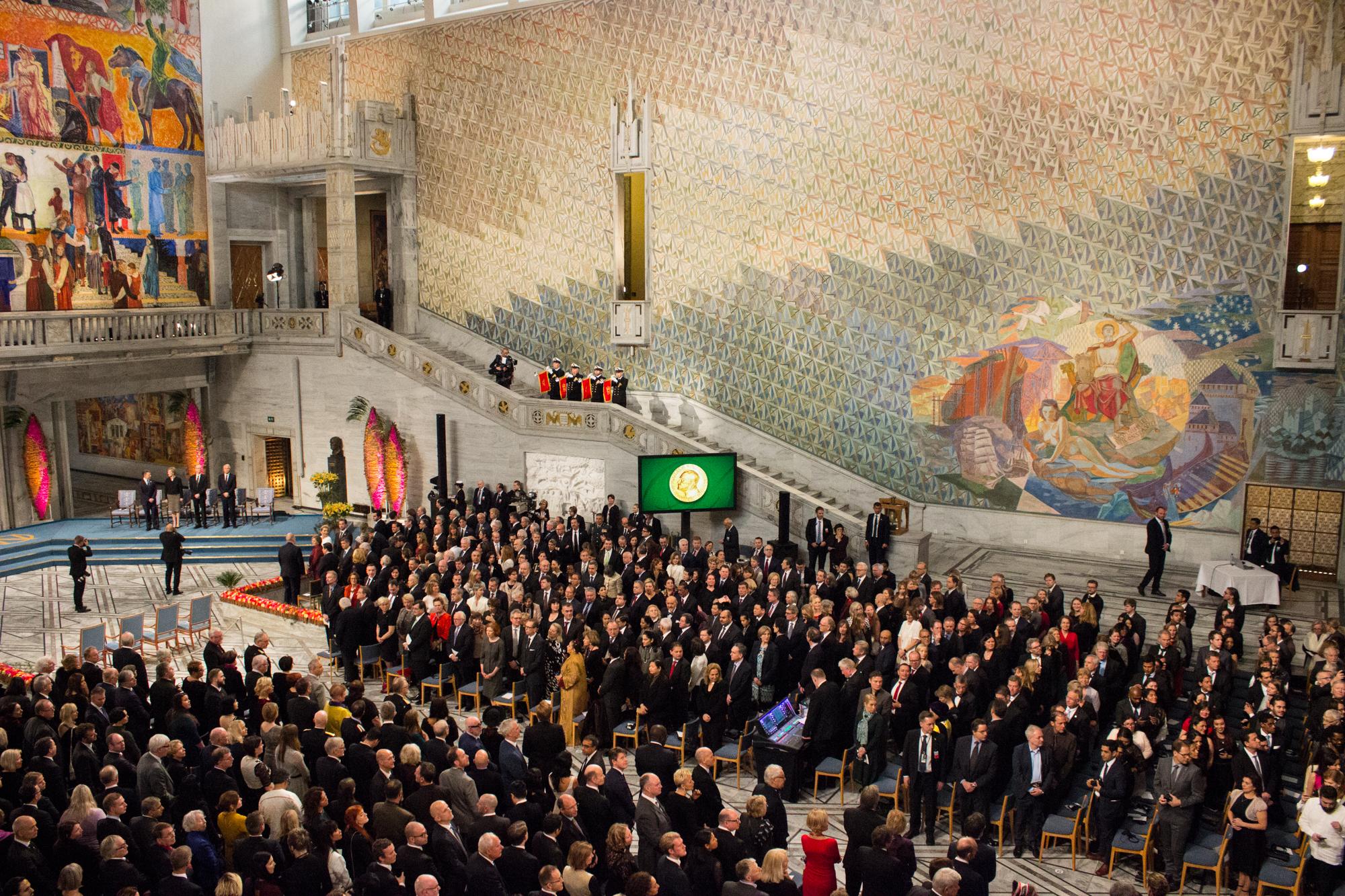 Nobel Prize Ceromony in Oslo Norway