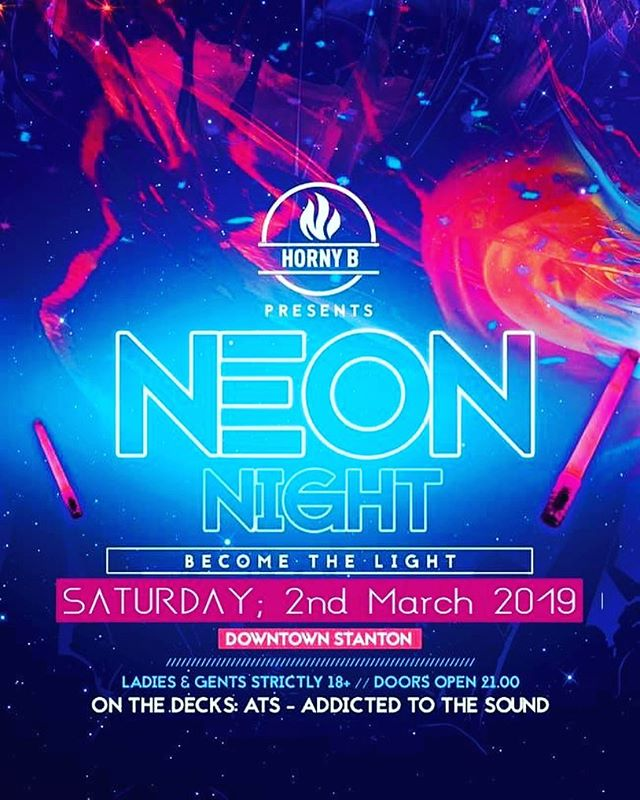 TONIGHT -  THE ULTIMATE NEON BASH . . #bestcrowd #saturday #neonparty #uv #blacklight #bethelight #seasonaires #clubbing #hornybclub #goodtime #goodvibes #barlife #funk  #eyecandy #cantwait #season #stantonamarlberg #opening #happy #love #hornybclub  #amazing #follow4follow #like4like #instalike #instagood #swag #drink #seeyousoon #overandout