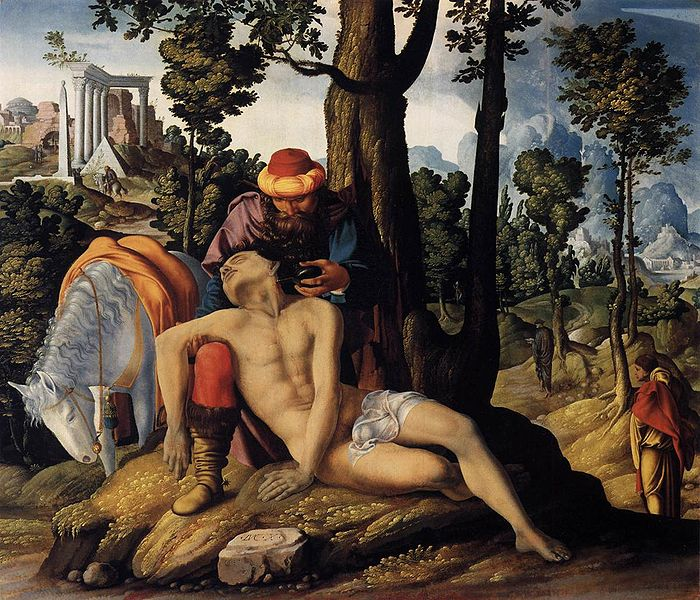 The Good Samaritan, 1537 http://commons.wikimedia.org/wiki/File:Master_of_the_Good_Samaritan_001.jpg