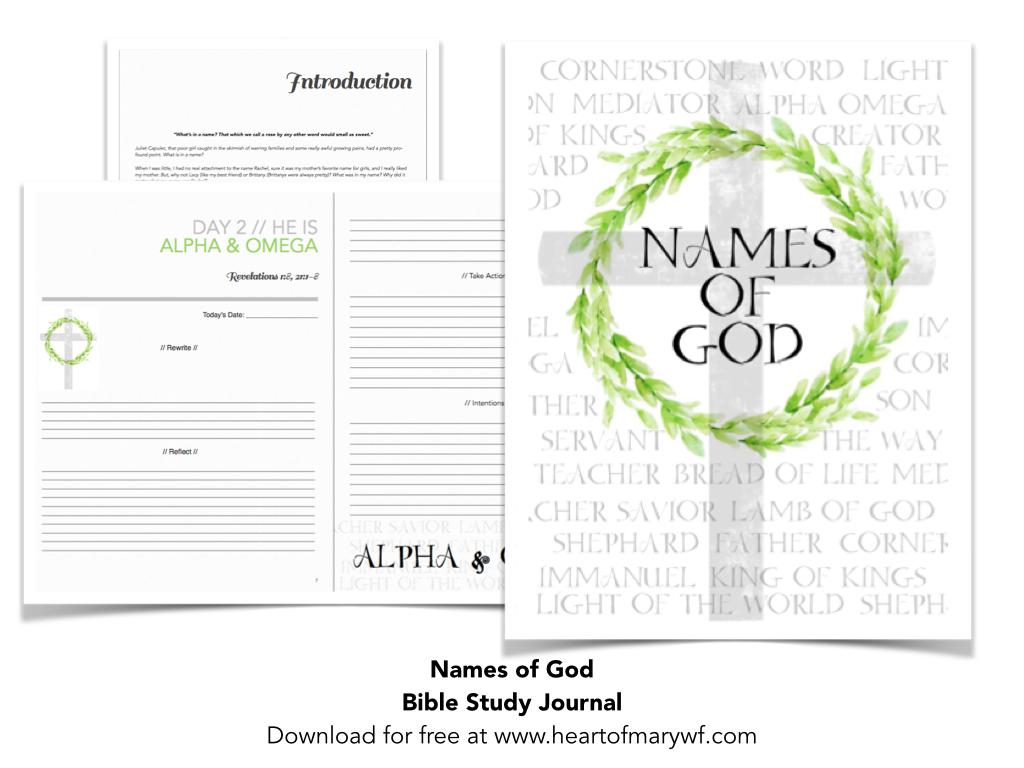 Names of God — Heart of Mary Women's Fellowship
