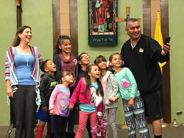The Gonzalez-Salgado Family, taking a selfie:) at Heart of Mary Women's Fellowship