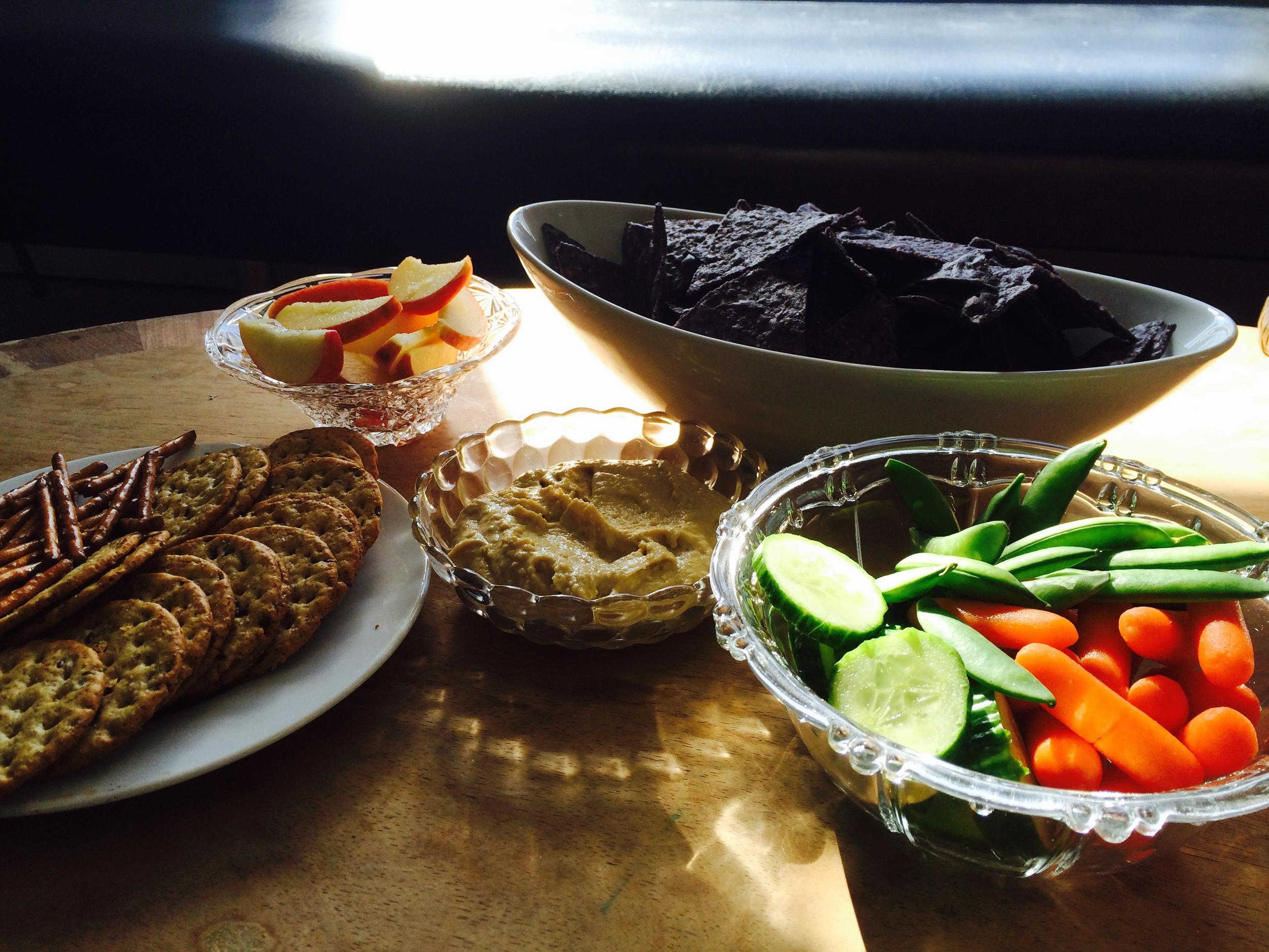 Mmmm - fresh veggies, snacks, VG and GF treats too!