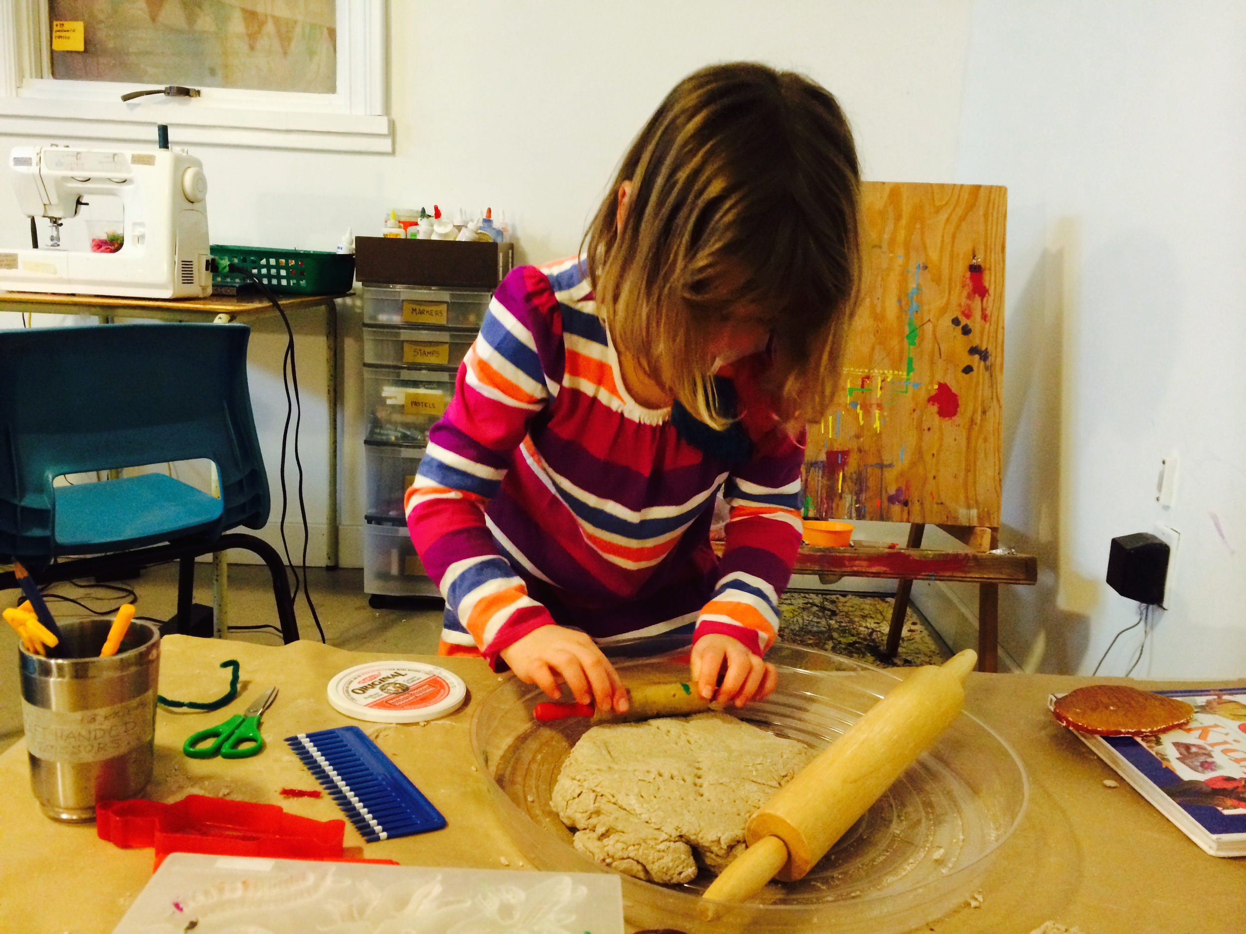 Homemade sanddough for play and casting.