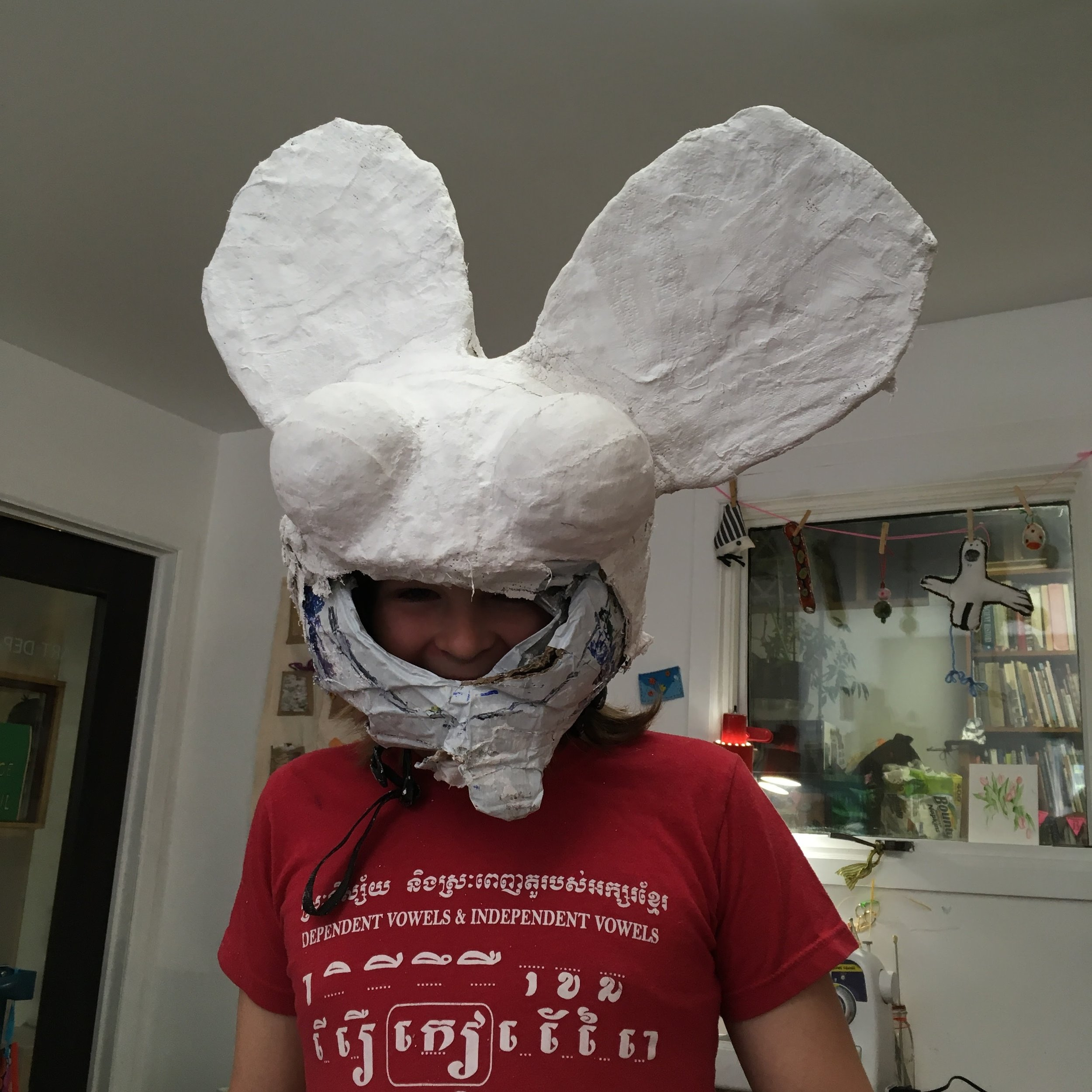 Getting ready for DeadMau5 concert and pride parade with an epic sculptural creation.