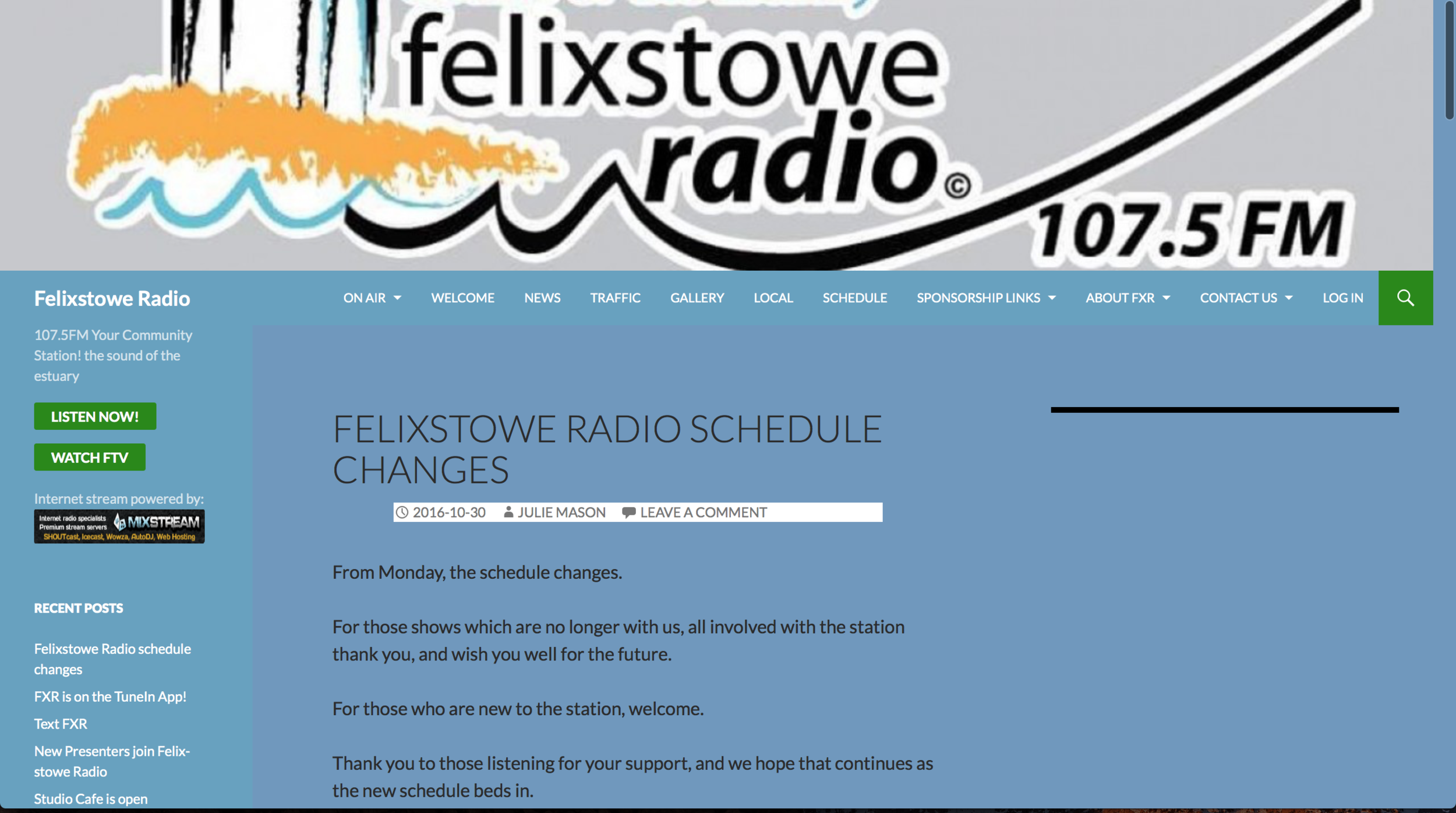 Featured on Roots and Shoots with Roger Pettit - Felixstowe Radio 19/06/2017