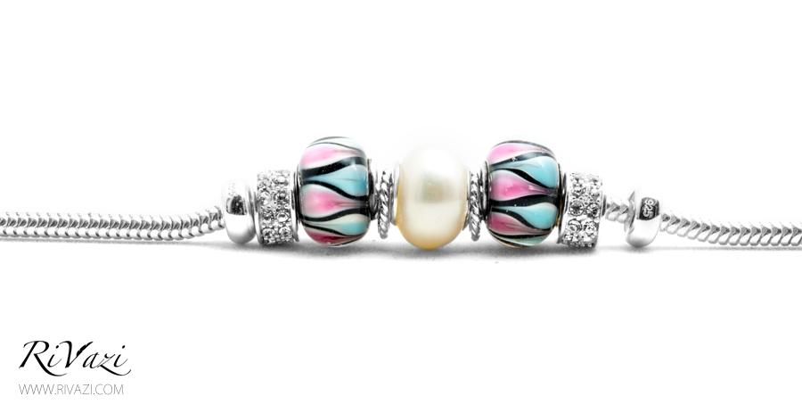 RiVazi Pearl Charm Bracelet Sterling Silver _ A.jpg