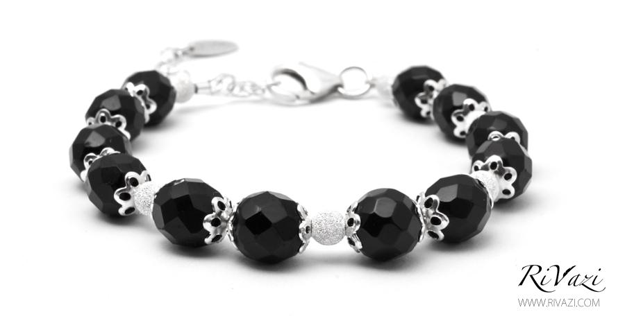 RiVazi Midnight Serene Bracelet Black Agate 2.jpg