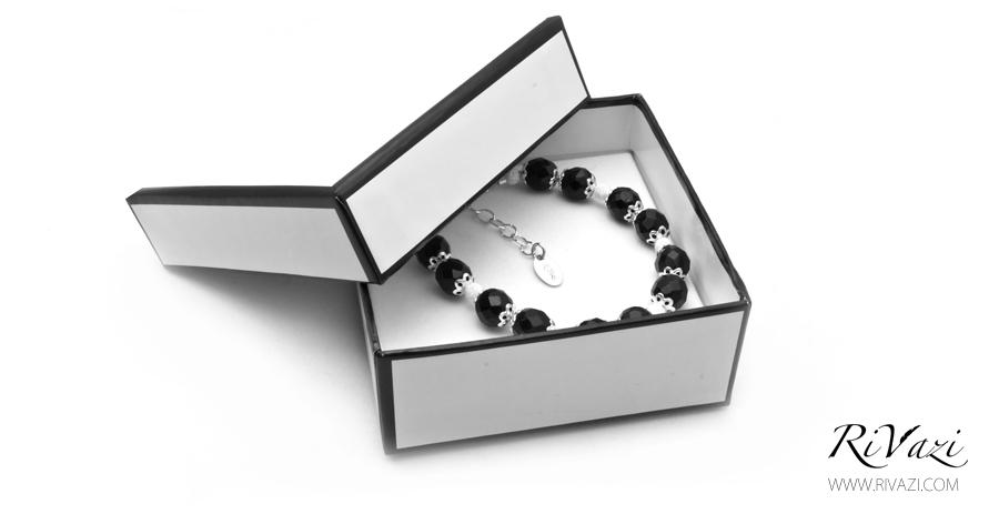 RiVazi Midnight Serene Bracelet Black Agate 1.jpg