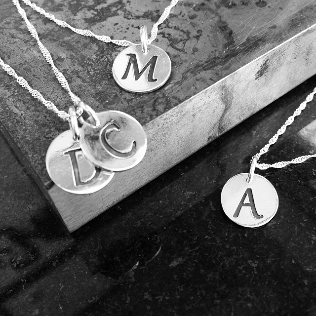 Personalize your style with #rivazi  #jewelry #monogram #initials #silver #instyle #fit #brand #custom #fashion #nyc