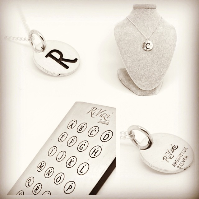 RiVazi Initials - Designed for New York! Get it in Silver or Gold http://goo.gl/0VcfQa  #Initial #NYC #simple #fall #withstyle #rivazi #rivazilife