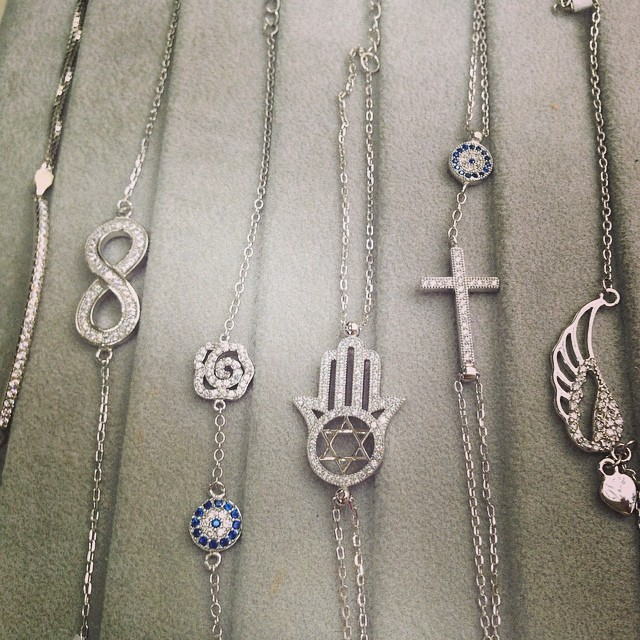 Bracelets? We've got them all!!! #rivazi #bracelet #sterling #silver #row #plate #infinity #flower #evileye #hamsahand #cross #wings #tofly #stardavid #tennisbracelet #cubiczirconia #platinum #instyle #summer #fashion #brand #new #bestdeal #accessory #custommade #design #forher #justanotherhobby #nyc