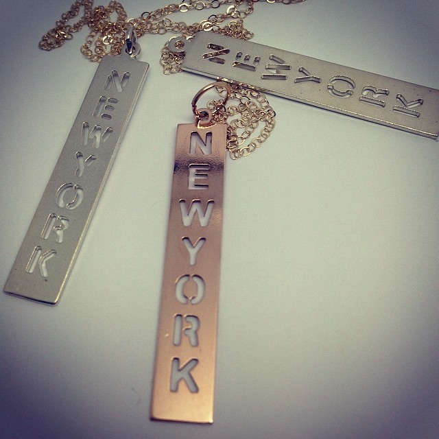 I'm a NewYorker!!! #rivazi #necklace #nyc #proud #bigcity #jewelry #gold #silver #newyork #pendant #unique #perfectfit #one #instayle #initial #city #bigapple #brand #custom #different #loyal #fashion #usa