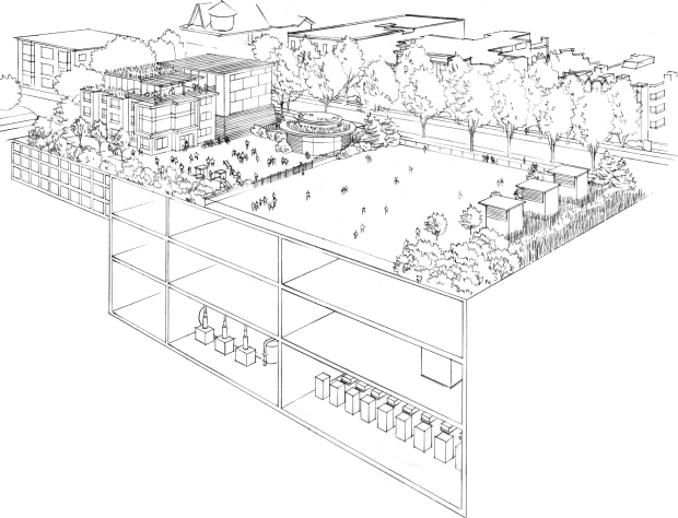 An underground view of the proposed nelson park substation.