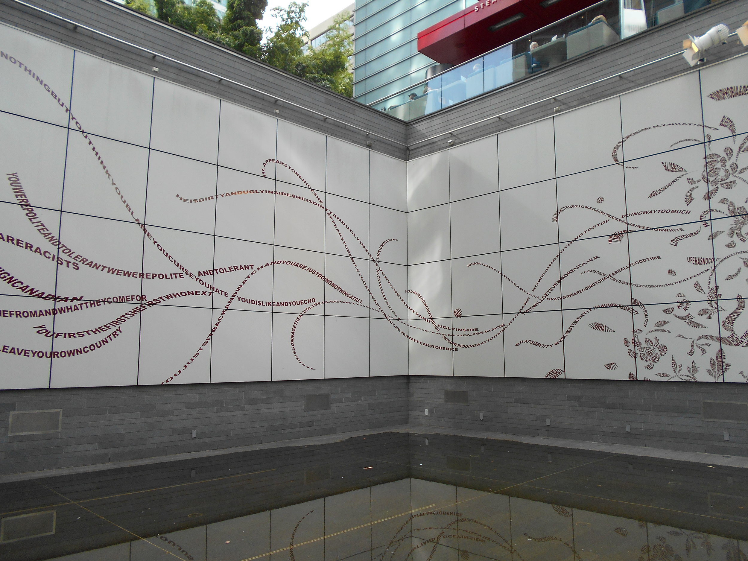 Apex of Tsang sculpture - an overall look at the main part of the installation. (click on images to enlarge)