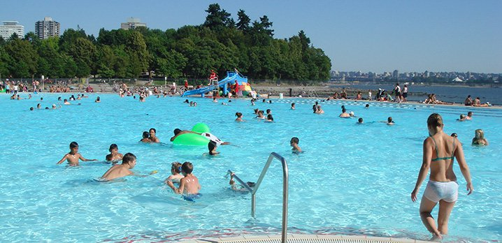 A recent day at Second Beach Pool.