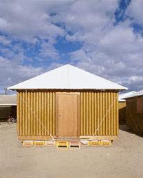 Shigeru Ban's Kobe Paper Log House at Offsite. (Hiroyuki Hirai Photo)