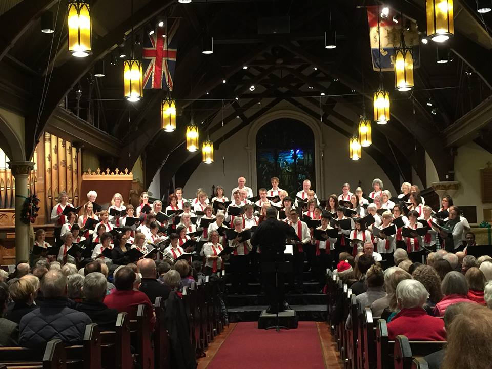 Joyful Voice Community Choir at home in St. Paul's Anglican Church in the heart of the West End.