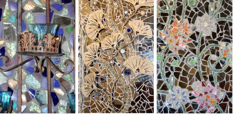 Judy's amazing mosaics. (click to enlarge)