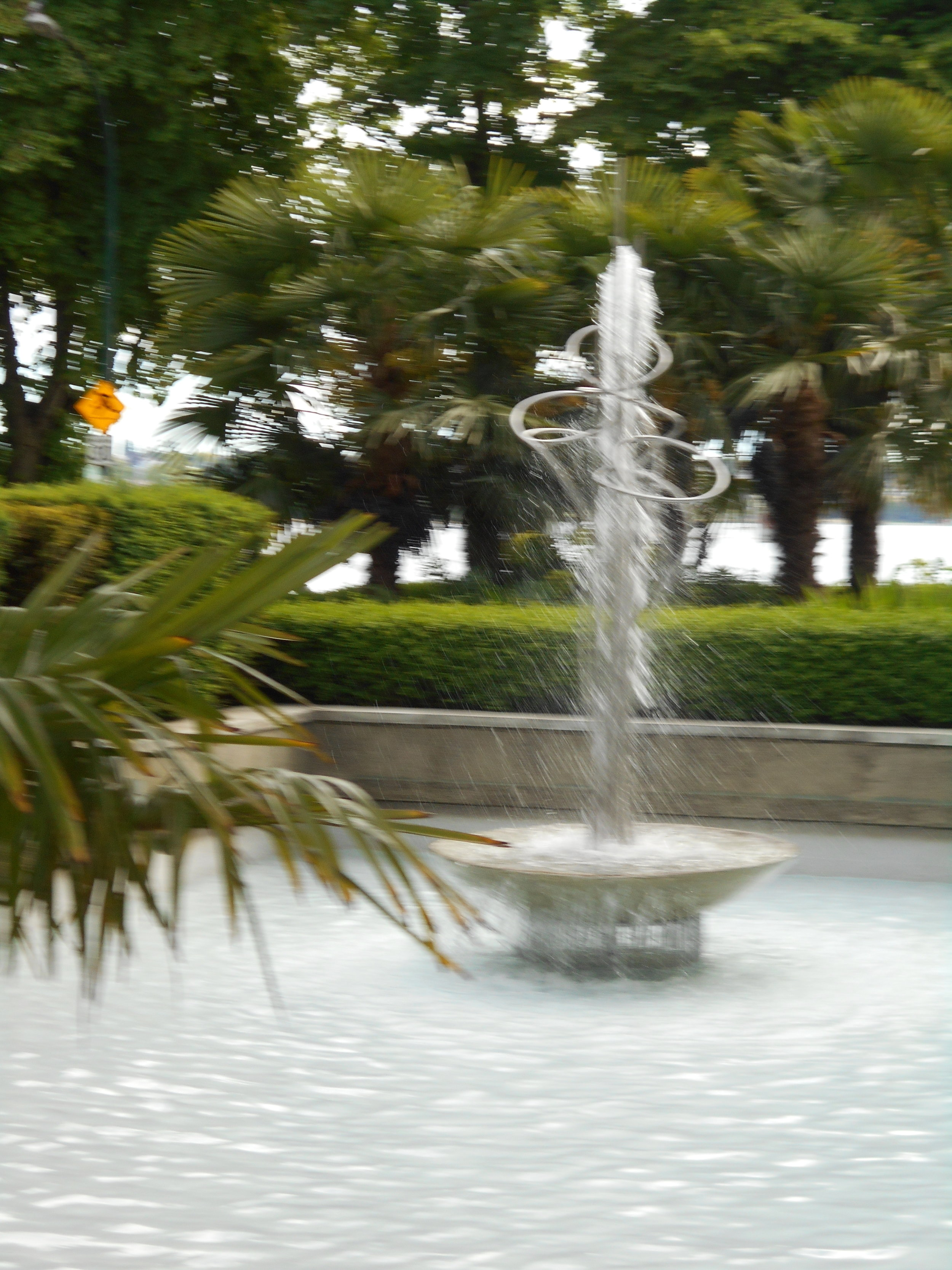 The dancing fountain at the Eugenia.