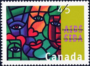 One World, One Hope 1994 Postage Stamp.