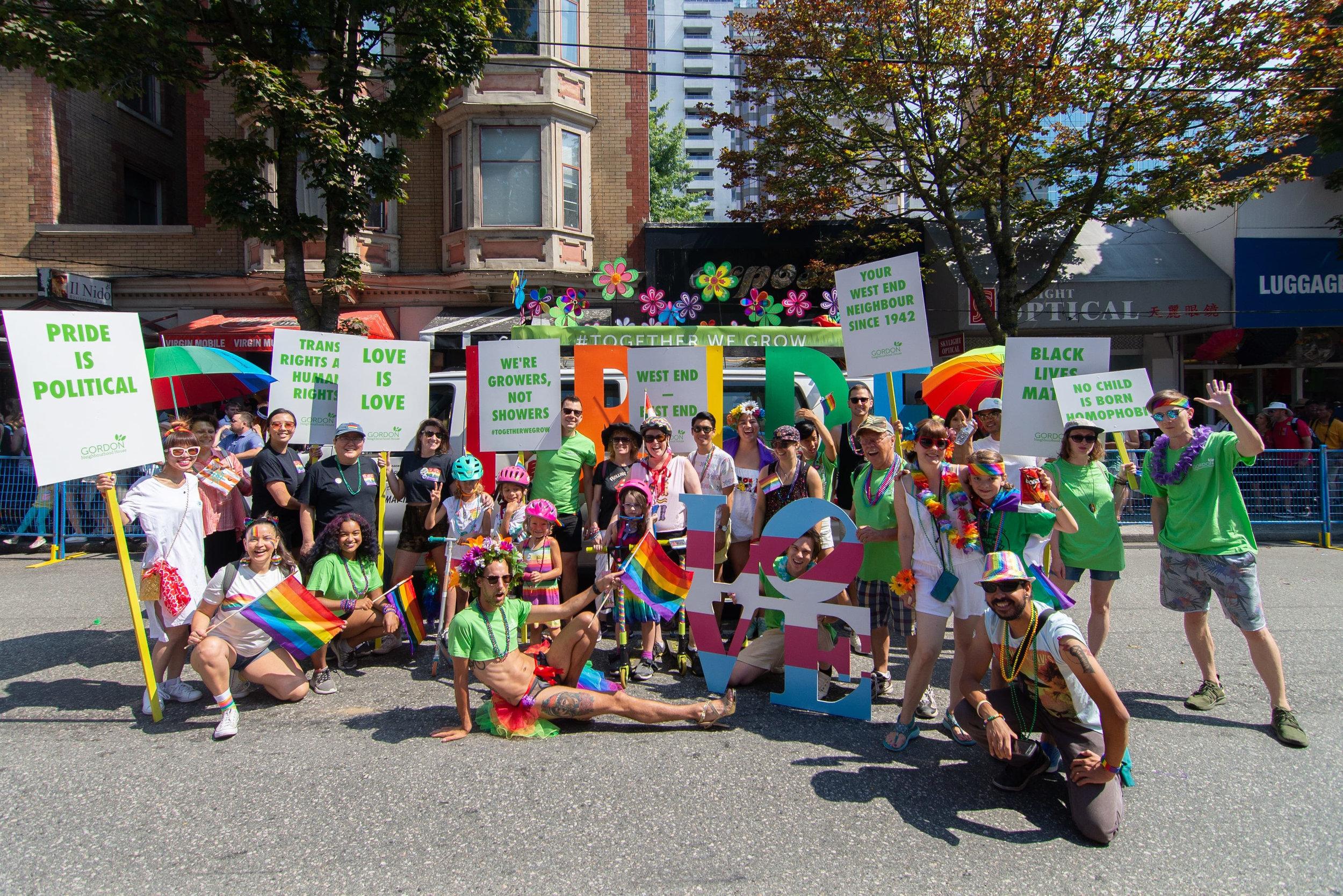 Gordon Neighbourhood House has Pride!