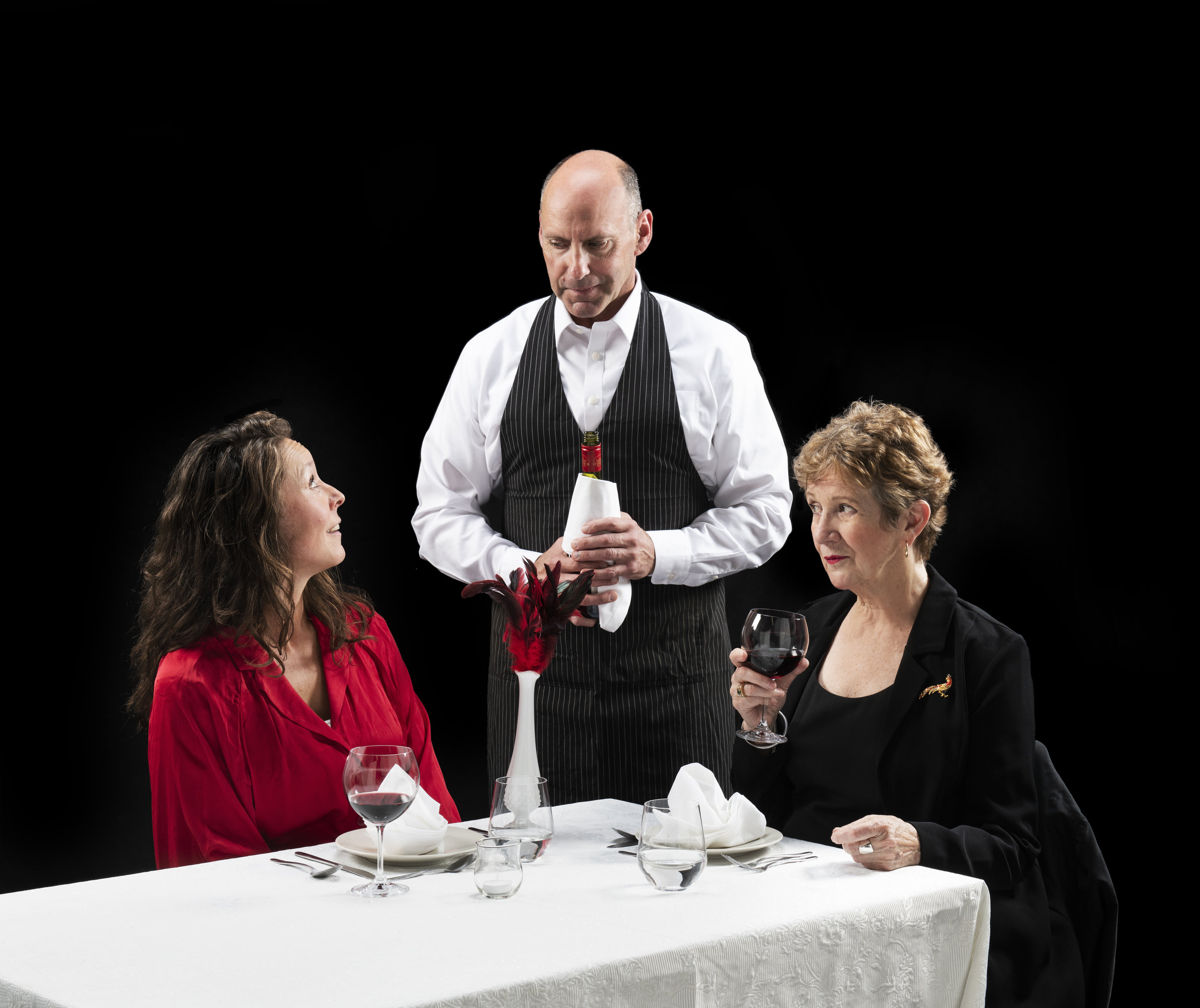 "Appearing in ""Red Birds"" (from left): France Perras, Gerry Mackay, and Anna Hagan. (Emily Cooper Photo)"