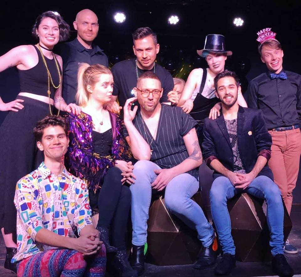 Members of QueerProv Improv comedy troupe.