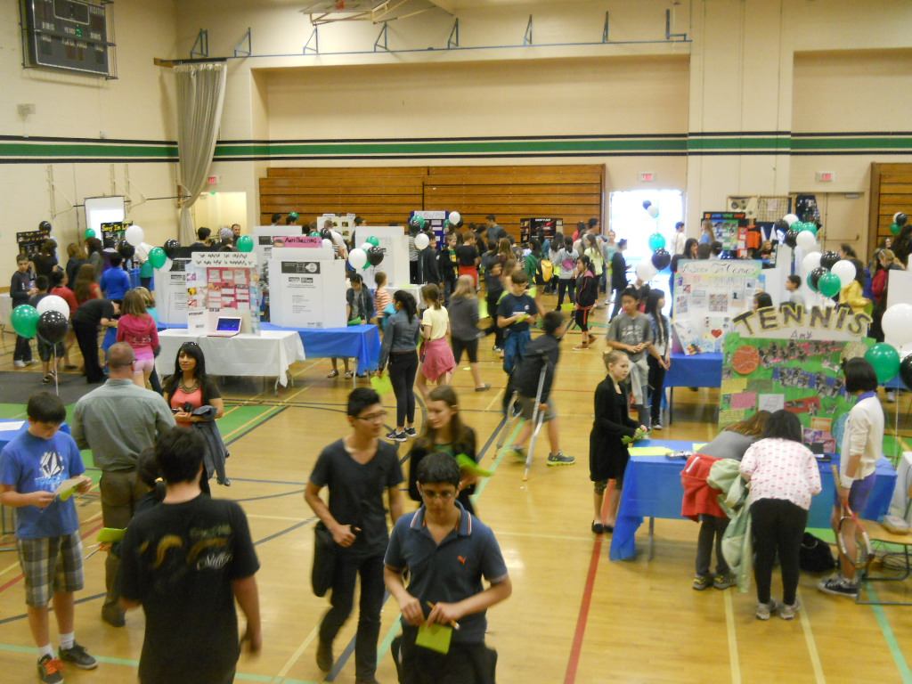 Photo from a previous year's Personal Project Fair at King George Secondary.