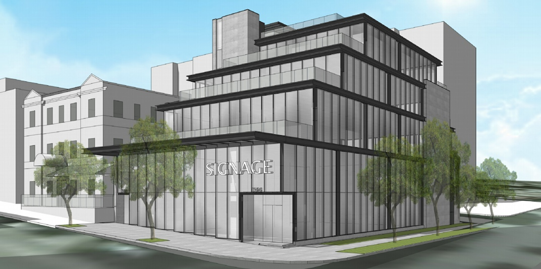 To this … an artist's rendering of the future look of 1394 Robson.