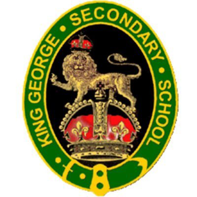 The King George Secondary School crest.