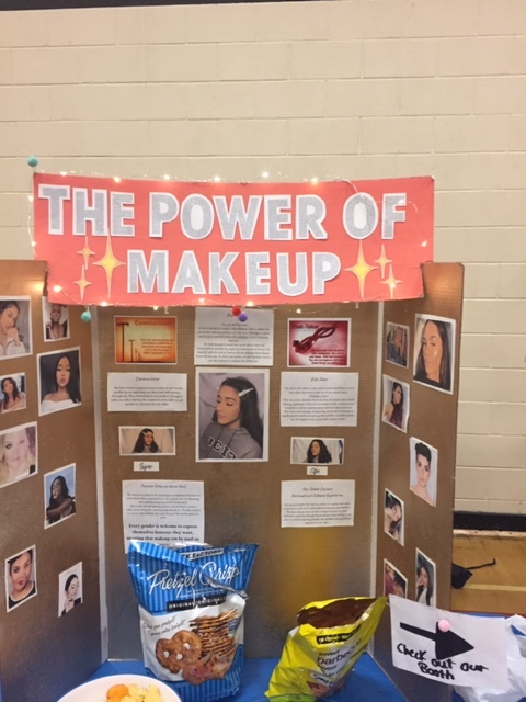 """The Power of Makeup"" was a popular entry in this year's Middle Years Program Fair."