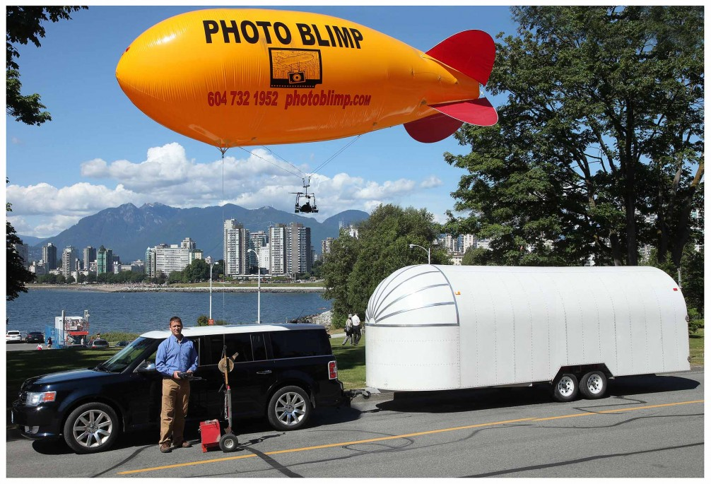 Mike and his blimp.