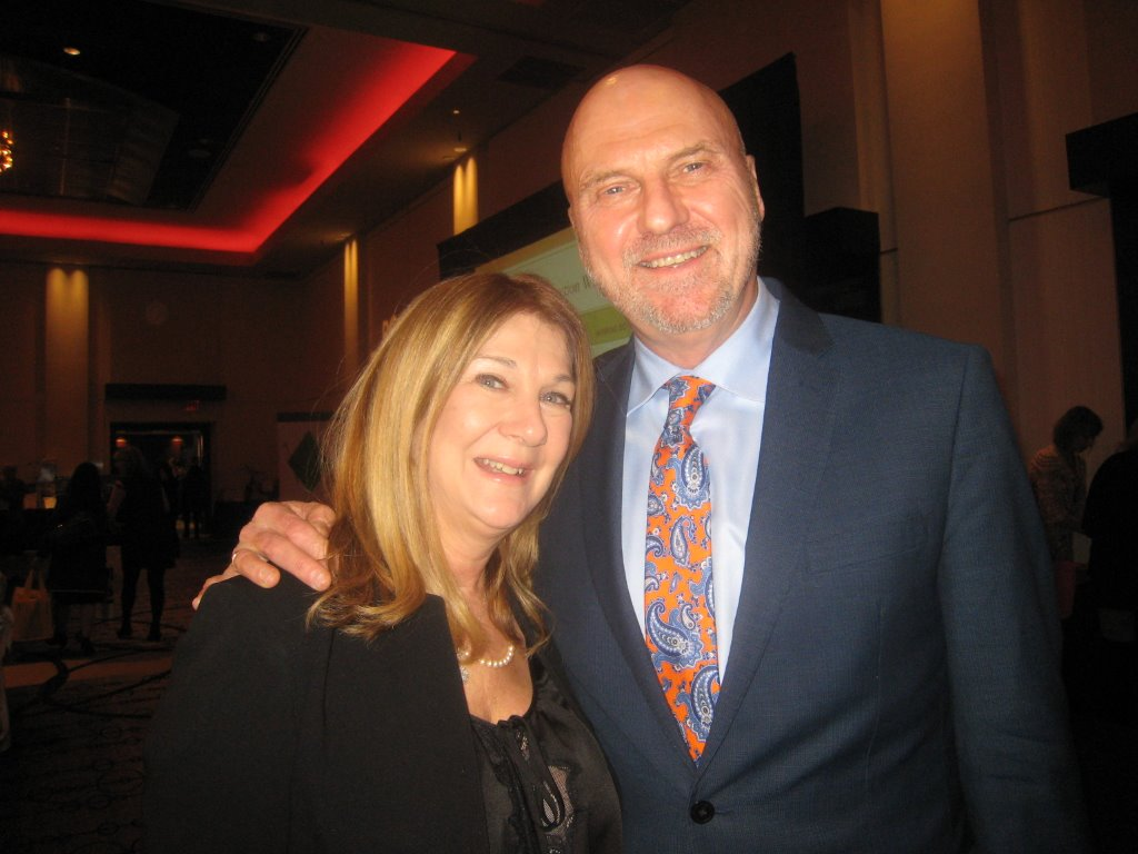 CTV's Marke Driesschen, who emceed the Healthy Chefs Competition at Hyatt, with his wife, Amandah Tanner